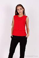 Молодіжна блуза без рукавів (червона), фото 1