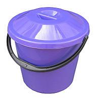 Ведро пластиковое пищевое 10 литров с крышкой