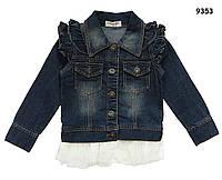 Джинсовый пиджак для девочки. 100, 120, 130 см