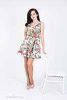 """Молодіжна сукня без рукавів з принтом (принт """"Птахи""""), фото 1"""