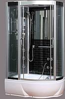 Гидробокс SAN B388L (80*120*215) поддон 26/40см черный кирпич сатин/серое