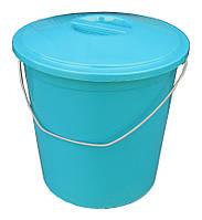 """Ведро пластиковое пищевое 24 литра с крышкой """"ПолимерАгро"""", фото 1"""