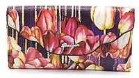 Элегантный кошелек фиолетового цвета с цветками BALIYA art.702-3