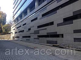 Вентилируемый фасад из керамогранитной плитки