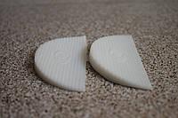 Полиуретановая подкова (рубец на задник) для ремонта обуви 90*40 мм. (Украина), цвет - белый