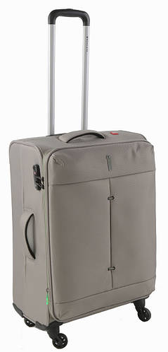 Средний 4-колесный практичный чемодан 74/87 л. Roncato IRONIC 5122/65 бежевый