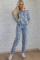 Спортивный женский костюм с манжетами Звезды (оптом)
