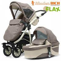 Kinder Rich Fox Flax Универсальная коляска 2 в 1 Коричневый