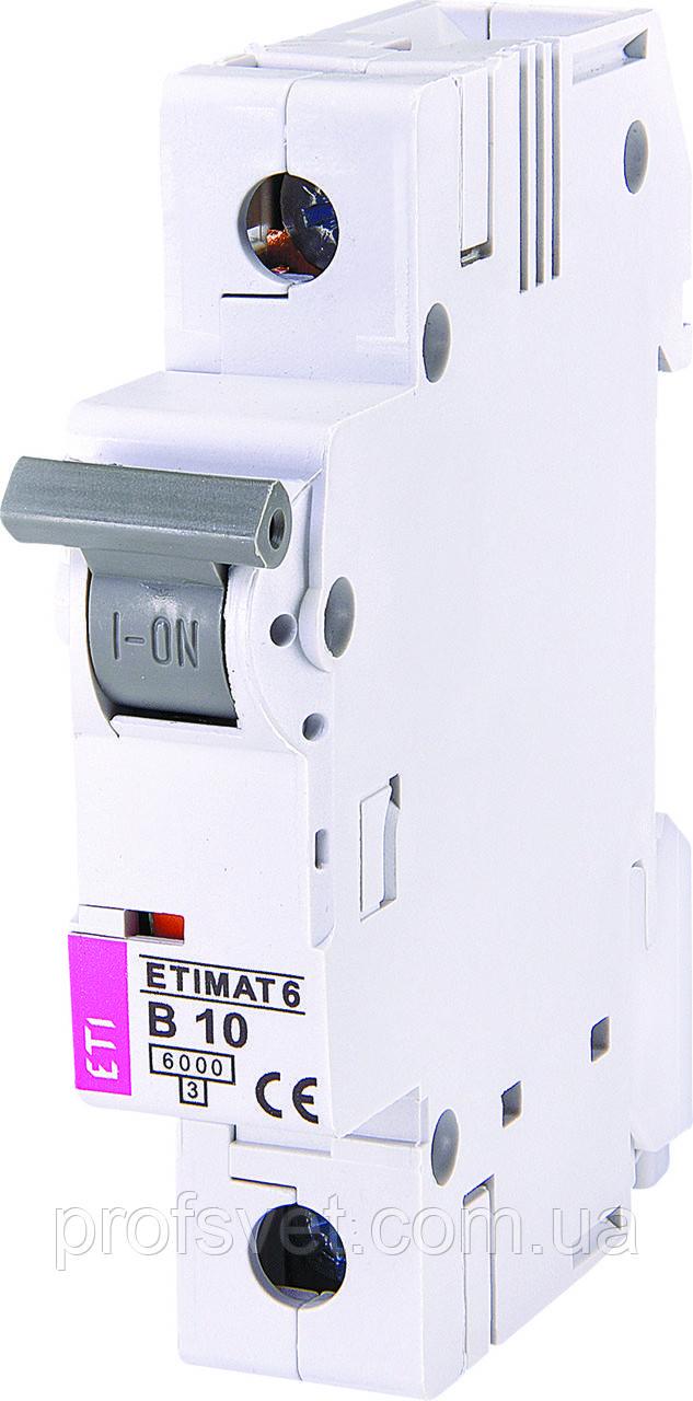 Автомат выключатель однополюсный ETI 10A В