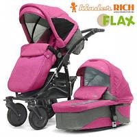 Kinder Rich Fox Flax Универсальная коляска 2 в 1 Розовый