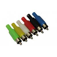Штекер RCA под шнур, цветной 100 штук