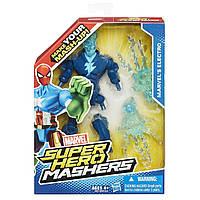 Разборные фигурки супергероев, Электро - Marvel's Electro, Super Hero Mashers, Hasbro