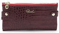 Женский молодежный кошелек барсетка вишневого цвета SACRED FW-88003