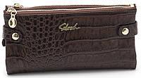Женский молодежный кошелек барсетка шоколадного цвета SACRED FW-88003