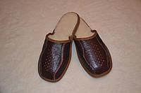 Тапочки кожаные на меху(мужские)