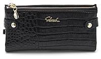 Женский молодежный кошелек барсетка черного цвета SACRED FW-88003