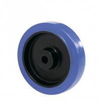 Колеса с контактным слоем из эластич. синей резины Norma без кроншт. с ролик.подшØ80,100,125,150,160,200,250мм