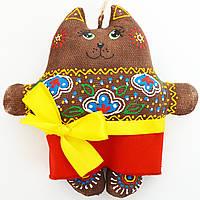 Кофейная кошка в цветах. Украинский сувенир.