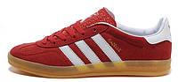 Мужские кроссовки Adidas Gazelle (адидас газели) красные