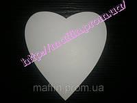 Подложка под торт сердце  20*18 белая (наб 10шт)