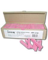 Мел школьный розовый 100шт 12х12х75мм картонная коробочка