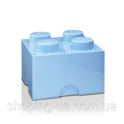 Четырехточечный голубой контейнер для хранения Lego PlastTeam 40031736
