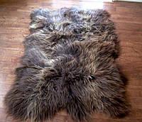 Ковер из 3-х овечьих коричневых шкур (овчины)