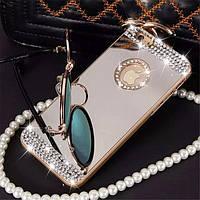 Роскошный ручной работы с сияющими алмазами и зеркалом чехол для iphone 6 6 s 6 плюс