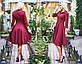 """Элегантное женское платье средней длины 206 """"Креп Клёш Миди"""" в расцветках, фото 6"""