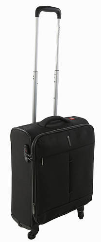 4-колесный малый тканевый чемодан 40/46 л. Roncato IRONIC 415123 01 черный
