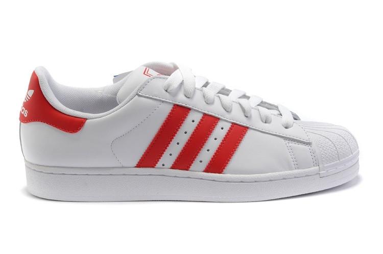 Кроссовки мужские в стиле Adidas Superstar White-Red