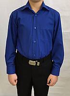 Синяя школьная рубашка, фото 1