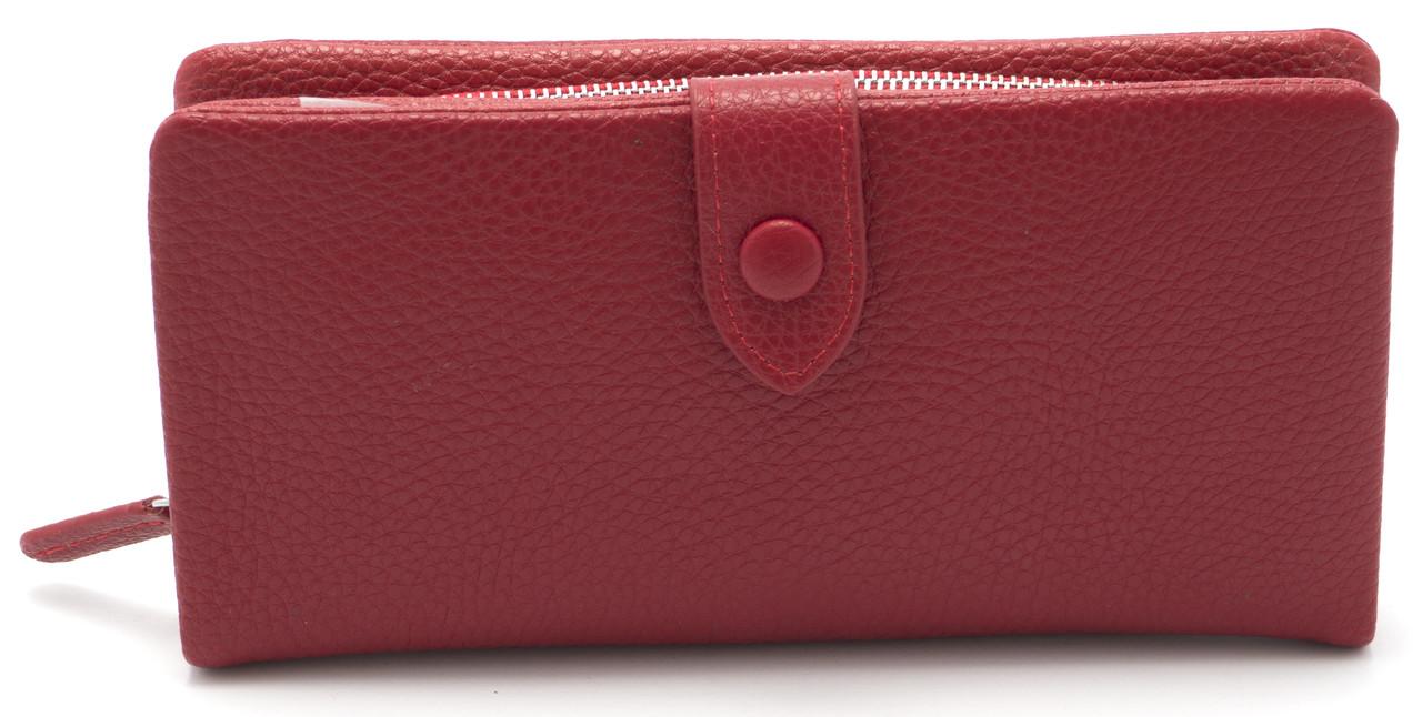 Интересный женский кошелек темно красного цвета SACRED FW-90858