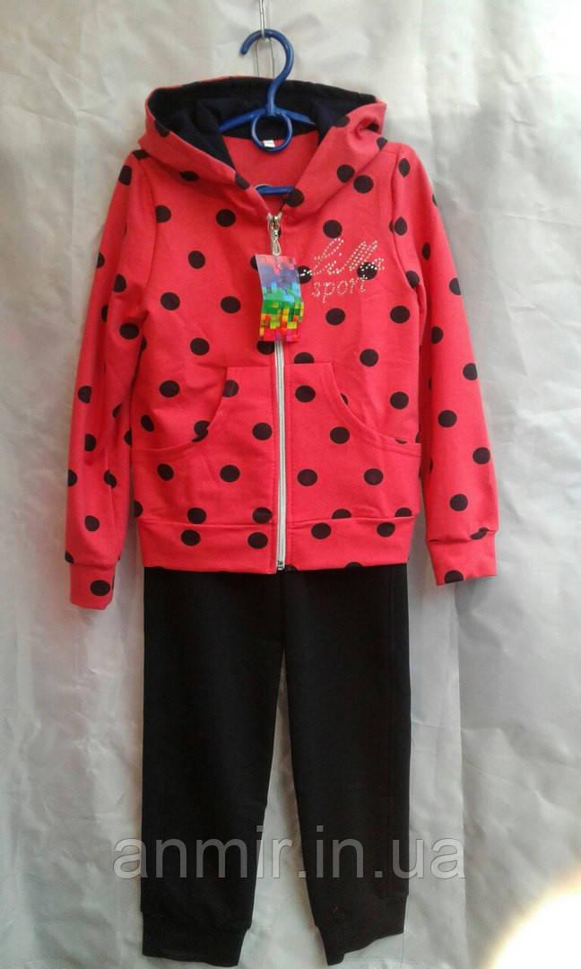 Спортивный костюм подростковый для девочек 7-11 лет,красный , фото 1