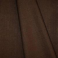 Декоративная ткань рогожка Асос, цвет коричневый