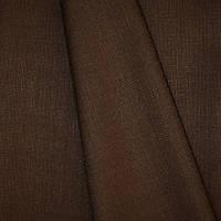 Декоративная ткань рогожка Асос, цвет черный шоколад