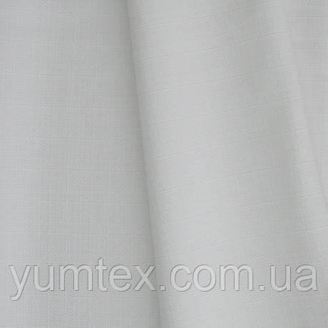 Декоративная ткань рогожка Асос, цвет молочно белый