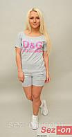 Костюм женский шортики+футболка Dolce and Gabbana (оптом)