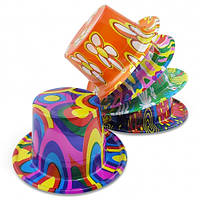 Шляпа Цилиндр пластик с принтом