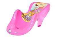 Горка для купания ребёнка SF-003 Safari Tega Baby, розовая