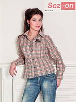 Рубашка женская вышивка Burberry (оптом)