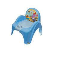 Детский горшок - кресло Safari SF-10 Tega Baby, голубой