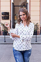 Рубашка женская Lauren с рисунком Polo Белый, 42 (оптом)