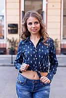 Рубашка женская Lauren с рисунком Polo Темно-синий, 46 (оптом)