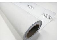Карбоновая пленка белая метр. Пленка под карбон для автомобиля 127*30 см
