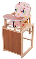 Детский стульчик для кормления трансформер  Кроватная Фабрика, розовый