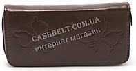 Женский кошелек барсетка коричневого цвета SACRED art.Бабочки, фото 1
