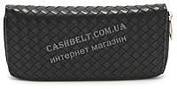 Женский кошелек барсетка черного цвета SACRED art.Плетенка, фото 1