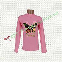 """Гольфик для девочек подростков """"Бабочка"""" розовый"""