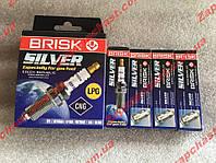 Свечи Brisk DR15YS Silver ваз 2101 2103 2104 2105 2106 2107 2108 2109 21099 2113 2114 2115 таврия Lanos Sens, фото 1